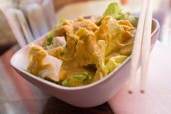 Miso Ginger Dressing Salad Fotografia Stock