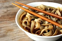 Miso and noodle soup oriental food Royalty Free Stock Images