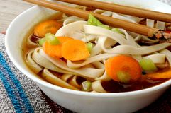 Miso and noodle soup oriental food Royalty Free Stock Photo