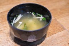 Miso polewka, Japoński jedzenie Zdjęcia Royalty Free