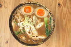 Miso ramen on top of japanese style Stock Image