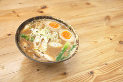 Miso ramen on top of japanese style Royalty Free Stock Images