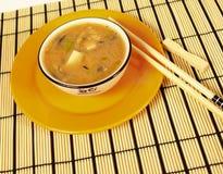 Miso soep Stock Afbeelding