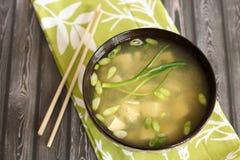 Miso soep royalty-vrije stock afbeeldingen