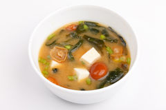 Miso soep, Japanse keuken, kom Stock Afbeelding
