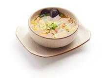 Miso soep met mossel en ui Stock Foto's