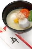 Miso soepzoni (de Japanse soep van de rijstcake), japanse Royalty-vrije Stock Fotografie