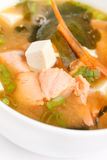 Miso soup. On the white Royalty Free Stock Images