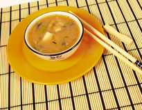 Miso soup Stock Image