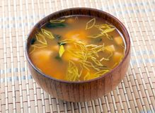 Miso soup. Japanese traditional Food Royalty Free Stock Photography