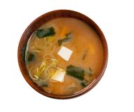 Miso soup. Japanese traditional Food Stock Photos