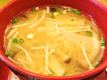 Miso Soup. In the bowl Royalty Free Stock Photography