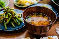 Miso soup stock photography