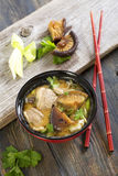 Miso soup with duck. Stock Photos