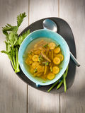 Miso soup with green beans Stock Images
