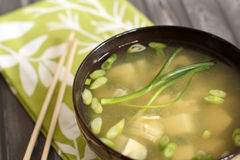 Miso soup. Healthy miso soup asian cuisine Royalty Free Stock Photography