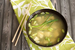 Miso soup. Healthy miso soup asian cuisine Royalty Free Stock Images