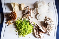 Miso soup ingredients Royalty Free Stock Image