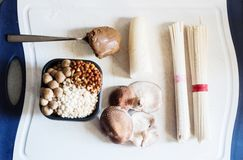 Miso soup ingredients Royalty Free Stock Photography