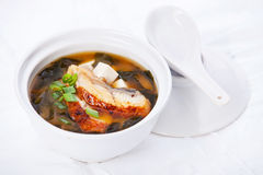 Miso Soup with japanese eel Stock Image