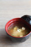 Miso soup , Japanese Food Royalty Free Stock Photos