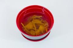 Miso soup, japanese food isolate on white background Stock Photo