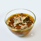 THe miso soup. Japanese Food. Shallow dof Royalty Free Stock Photography