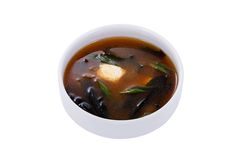Miso soup. Japanese Food on a white  background Stock Photography