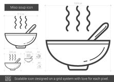 Miso soup line icon. Stock Photography