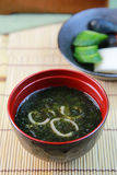 Miso soup of the rock laver Stock Images