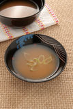 Miso soup Royalty Free Stock Images