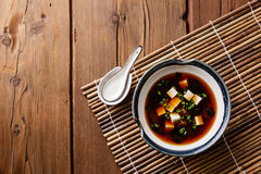 Miso Soup with tofu Stock Photo