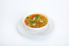 Miso-soup with tofu Stock Photo