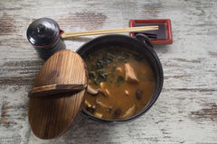Miso soup Stock Photo