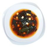 Miso soup top view Stock Photos