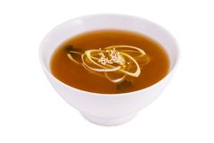 Miso Soup. On white background Stock Image