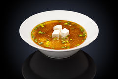 Miso soup in a white plate Stock Photography