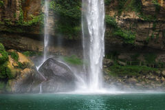 The Misol Ha waterfall Royalty Free Stock Photography