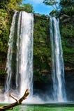 Misol-Ha Waterfall, Mexico - November 24, 2010. Waterfall in sunset. Yucatan peninsula, Chiapas stock image