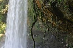Misol-Ha waterfall with people in background, Chiapas, Mexico, Royalty Free Stock Photos