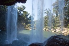 Misol-Ha waterfalls, Chiapas, Mexico Stock Photos
