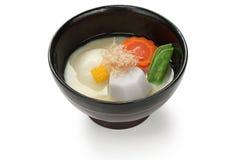 Misosuppe zoni, japanische Reiskuchensuppe Lizenzfreie Stockfotografie