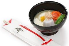 Misosuppe zoni (japanische Reiskuchensuppe), japanse Lizenzfreie Stockfotografie