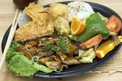 MisoYaki Chicken Combo Plate Royalty Free Stock Photos