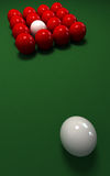 Misplaced  cue ball Stock Photos