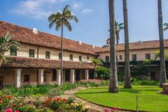 Missão de Santa Barbara Fotografia de Stock Royalty Free