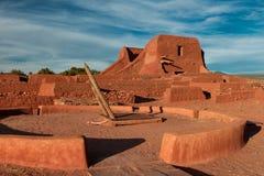 Missão do povoado indígeno dos Pecos imagens de stock