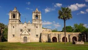 Missão espanhola Concepción em San Antonio, Texas foto de stock