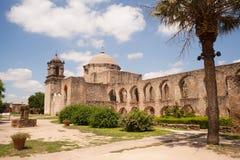 Missão histórica San Jose San Antonio Texas da arquitetura fotografia de stock