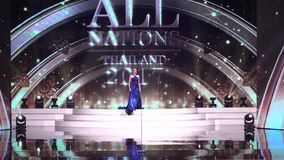 Miss All Nations Thailand 2017, Preliminary round to rehearsal stock video footage